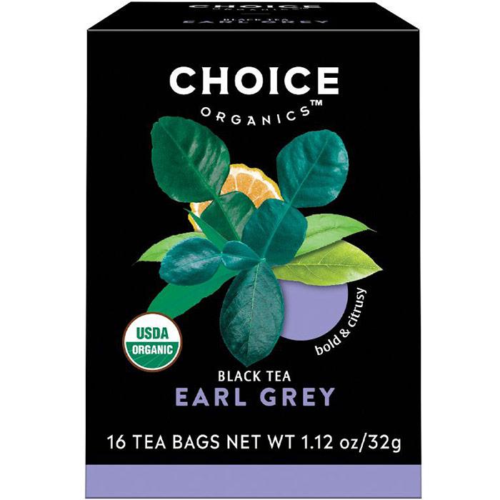 Earl Grey Black Tea, 16 Tea Bags, Choice Organic Teas