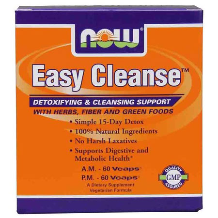 Easy Cleanse Kit AM/PM, 60+60 Vcaps, NOW Foods