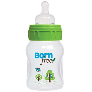 Eco Deco Active Flow Baby Bottle, 5 oz, 1 Pack, BornFree (Born Free)