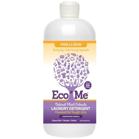 Eco-Me Laundry Detergent, Natural Plant Extracts, Vanilla Bean, 32 oz