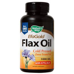 EfaGold Flax Oil 1000 mg, 100 Softgels, Natures Way