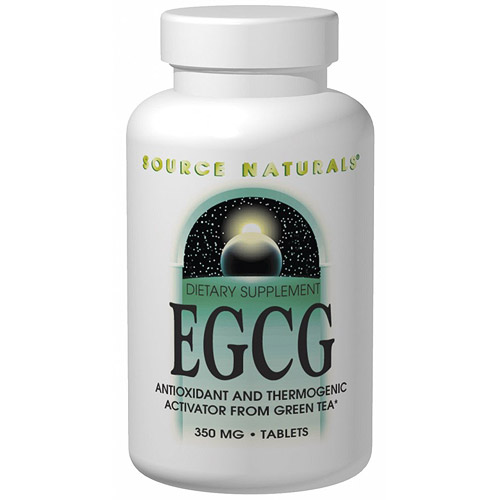 EGCG from Green Tea 350 mg, 60 Tablets, Source Naturals