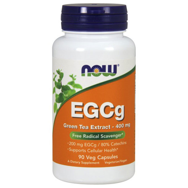 EGCg Green Tea Extract 400 mg, 90 Vegetarian Capsules, NOW Foods