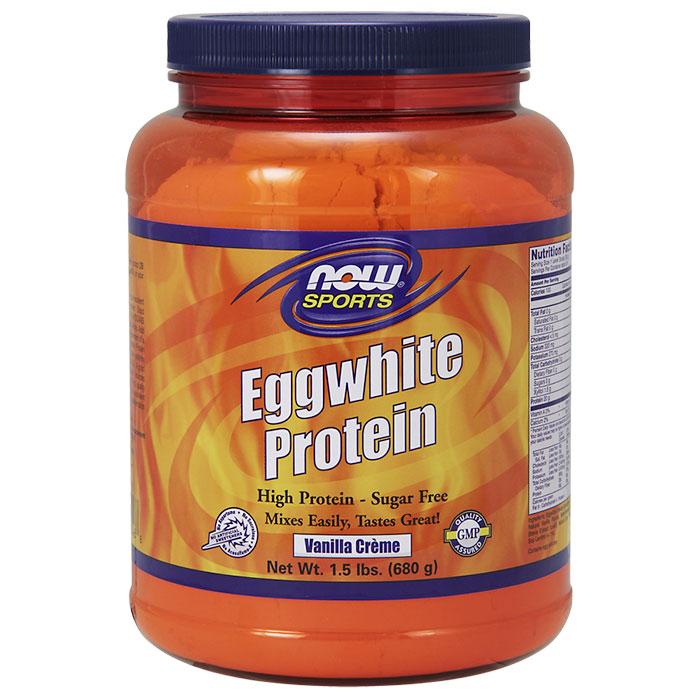 Eggwhite Protein, Vanilla Creme, 1.5 lb, NOW Foods