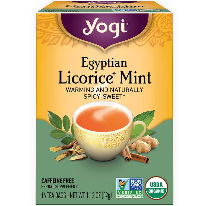 Egyptian Licorice Mint Tea 16 tea bags from Yogi Tea