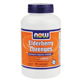 Image of Elderberry Lozenge, 90 Lozenges, NOW Foods