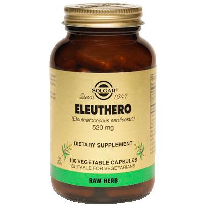 Eleuthero 520 mg, 100 Vegetable Capsules, Solgar
