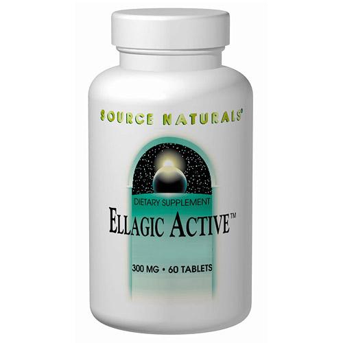 Ellagic Active, Raspberry Extract 300mg 40% Ellagitannins 30 tabs from Source Naturals
