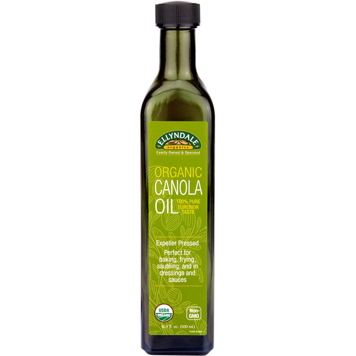 Ellyndale Organics Canola Oil, 16.9 oz x 6 Bottles, NOW Foods