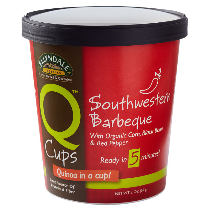 Image of Ellyndale Q Cups Quinoa Southwestern Barbeque, 2 oz x 6 Cups, NOW Foods