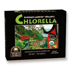Image of Emerald Garden Organic Chlorella 200 mg Box, 300 Tablets, Source Naturals