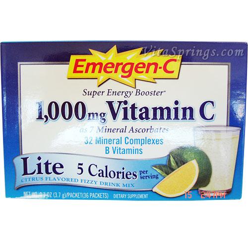 Image of Emergen-C Lite Vitamin Powder 30 Packets (Emer'gen-C)