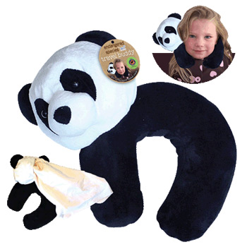 Endangered Species Travel Buddy Panda Plush Neck Pillow & Blanket, 1 pc, Health Science Labs