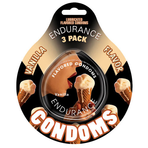 Endurance Condoms - Vanilla Flavored, 3 Pack Discs, Hott Products