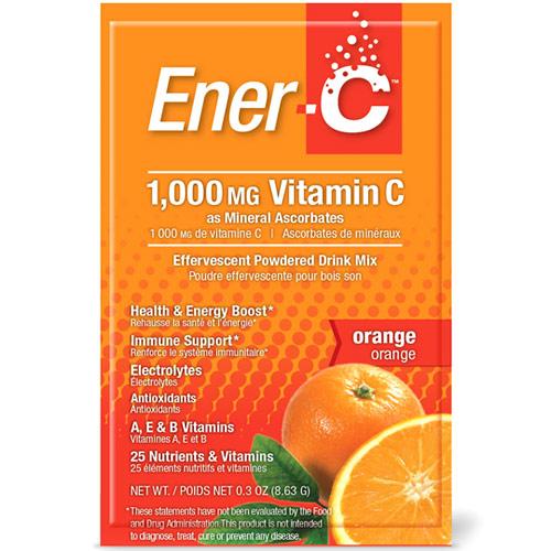Ener-C Vitamin C Effervescent Powdered Drink Mix, Orange, 30 Packets