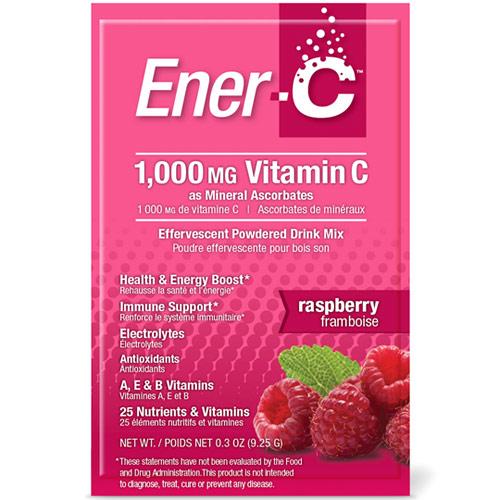 Ener-C Vitamin C Effervescent Powdered Drink Mix, Raspberry, 30 Packets