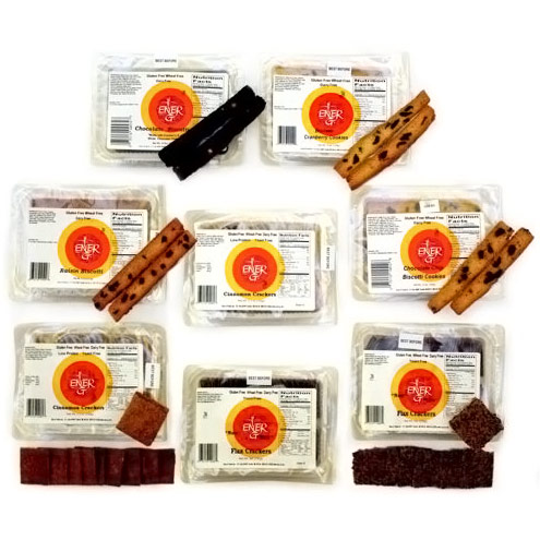 Ener-G Foods Snack Gluten Free Crackers & Biscotti, 8 Pack