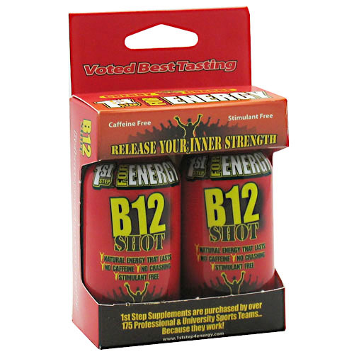 HPF B12 Shot (Maximum Energy B-12), 1 oz x 2 Shots, High Performance Fitness