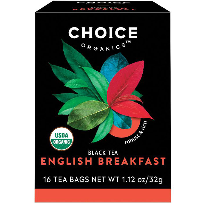 English Breakfast Black Tea, 16 Tea Bags, Choice Organic Teas