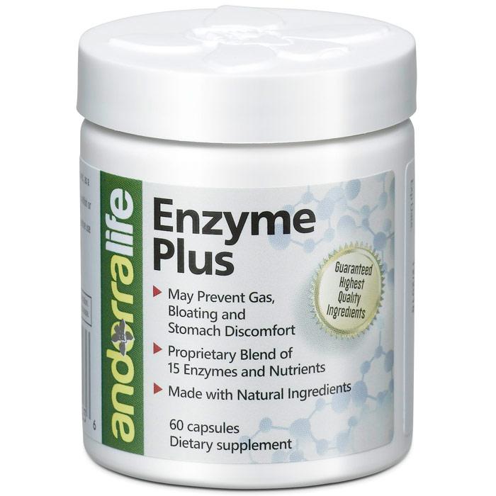 Enzyme Plus, 60 Capsules, Andorra Life