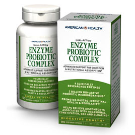 Enzyme Probiotic Complex, 90 Vegetarian Capsules, American Health