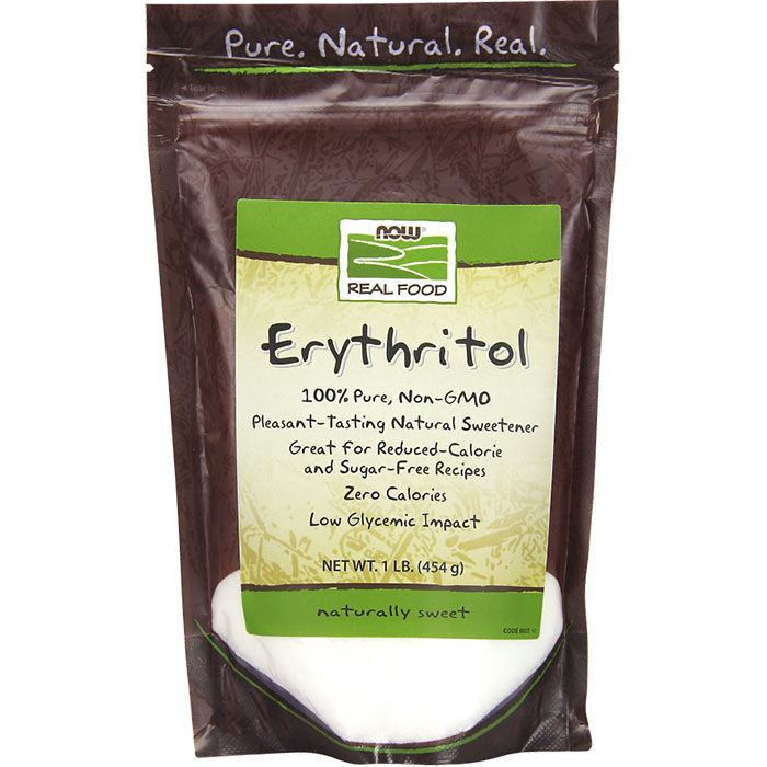 Erythritol Natural Sweetener 1 lb powder, NOW Foods