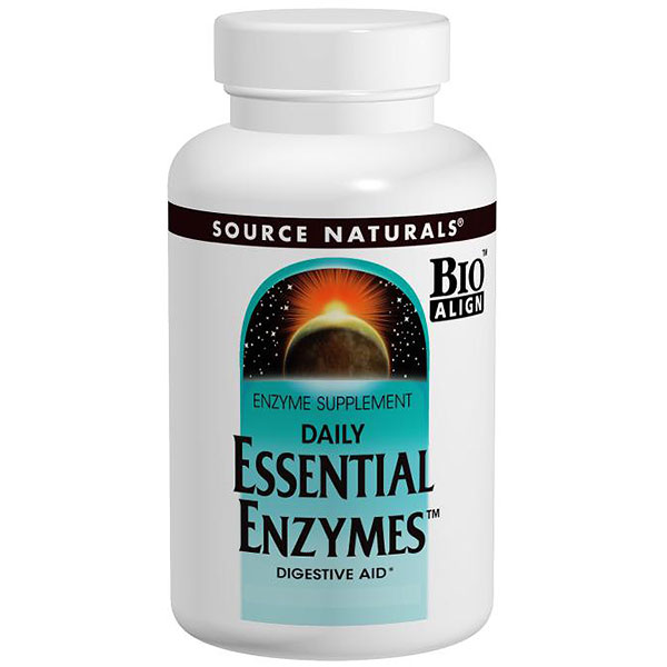 Essential Enzymes 500mg 60 caps from Source Naturals