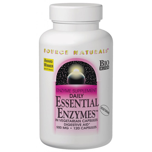 Essential Enzymes Vegetarian Capsules 120 caps from Source Naturals