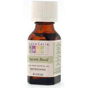 Essential Oil Basil (ocimum basilcum) .5 fl oz from Aura Cacia