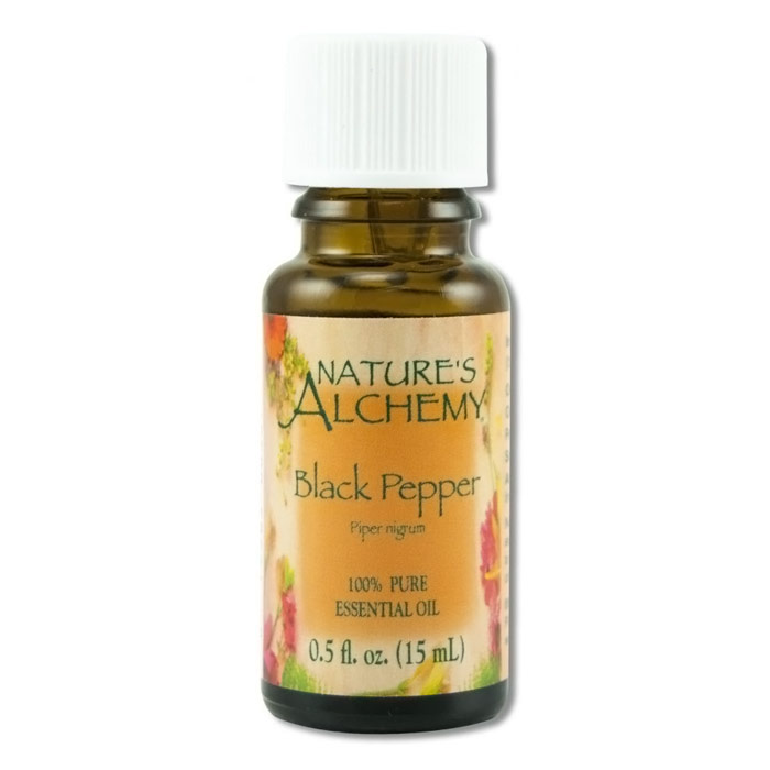 Pure Essential Oil Black Pepper, 0.5 oz, Nature's Alchemy