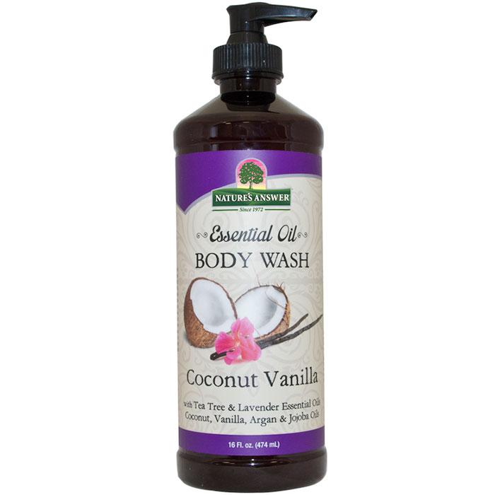 Essential Oil Body Wash - Coconut Vanilla, 16 oz, Nature's Answer