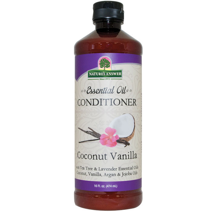 Essential Oil Conditioner - Coconut Vanilla, 16 oz, Nature's Answer