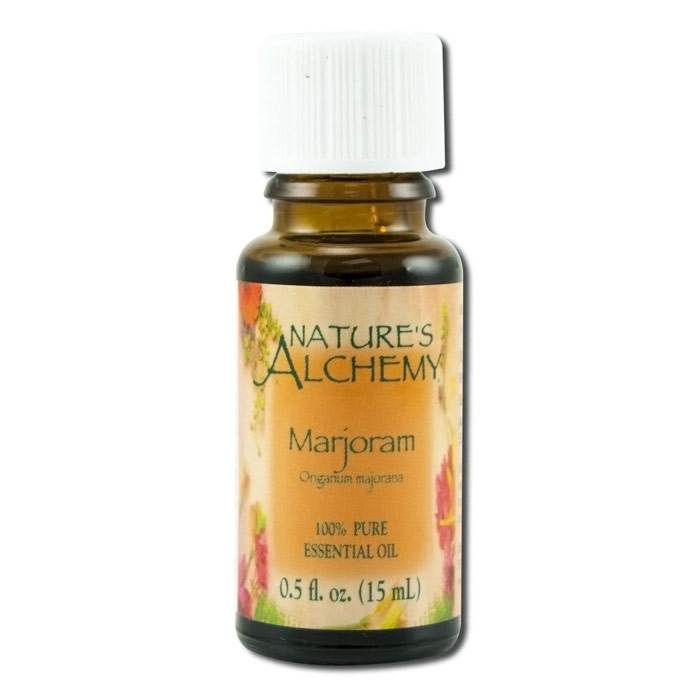 Pure Essential Oil Marjoram (Sweet), 0.5 oz, Nature's Alchemy