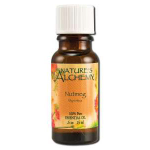 Pure Essential Oil Nutmeg, 0.5 oz, Nature's Alchemy