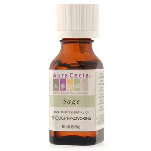 Essential Oil Sage (salvia officinalis) .5 fl oz from Aura Cacia