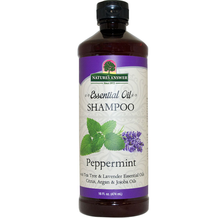Essential Oil Shampoo - Peppermint, 16 oz, Natures Answer