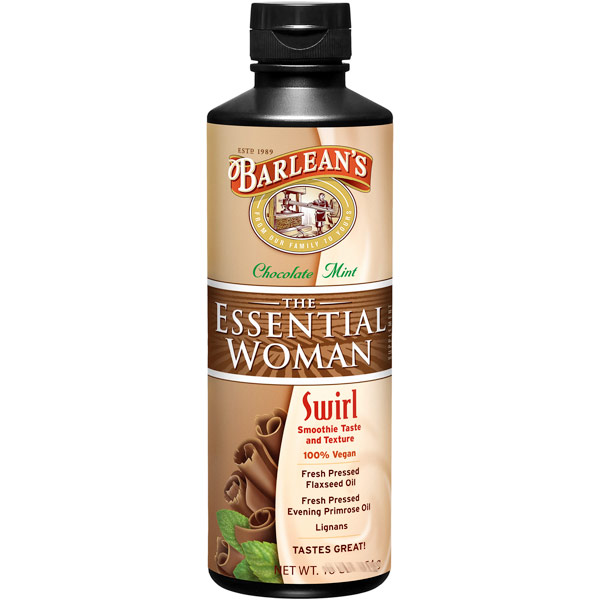 The Essential Woman Swirl Liquid, Chocolate Mint (Flax & Primrose Oil), 8 oz, Barleans Organic Oils
