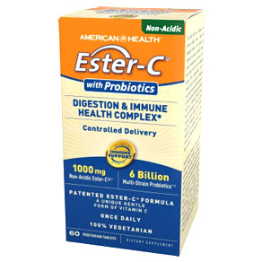 Ester-C with Probiotics, 60 Veggie Tablets, American Health