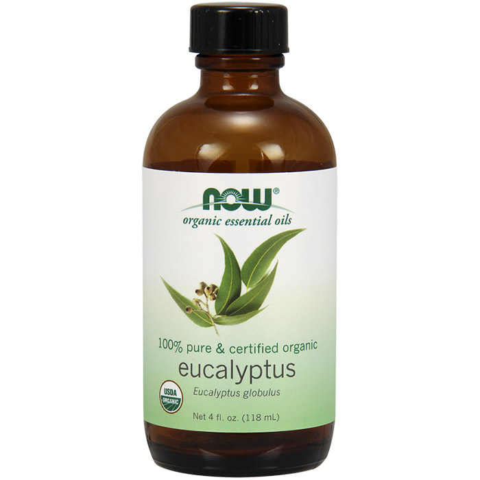 Eucalyptus Globulus Oil, Certified Organic Essential Oil, 4 oz, NOW Foods