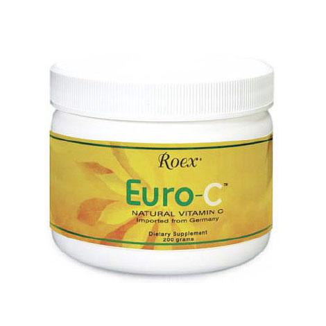 Euro-C Powder, Natural Vitamin C, 200 g, Roex