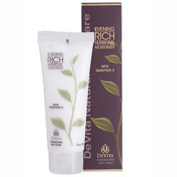 Evening Rich Nutritional Moisturizer, Night Cream, 2.5 oz, Devita