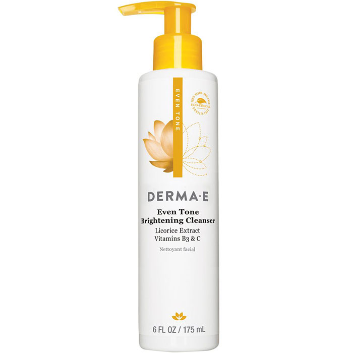 Derma E Even Tone Brightening Cleanser, 6 oz