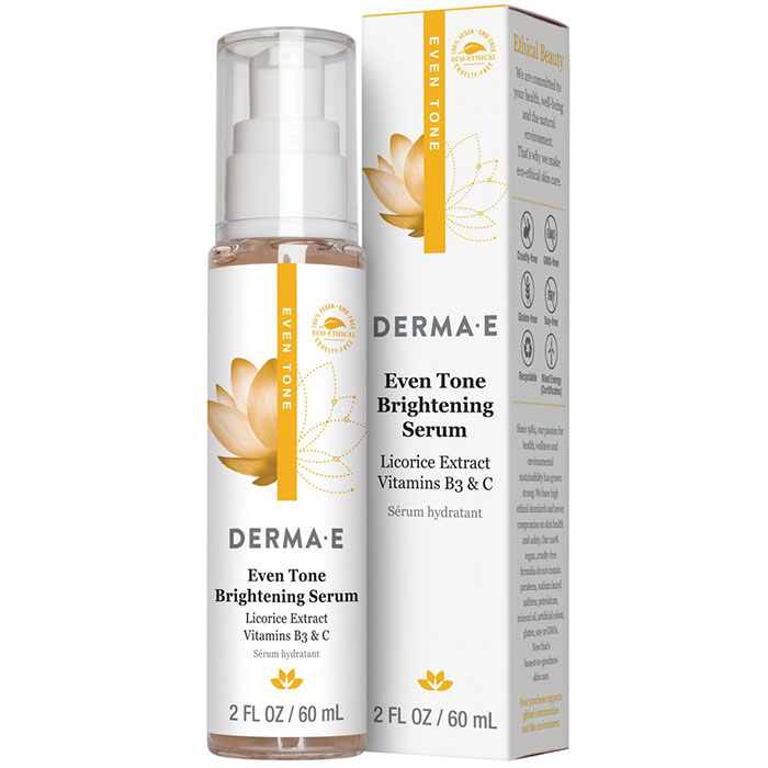 Derma E Even Tone Brightening Serum, 2 oz