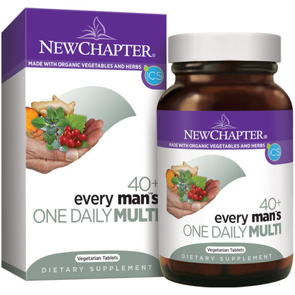 Every Mans One Daily 40+ Multivitamin, 72 Tablets, New Chapter