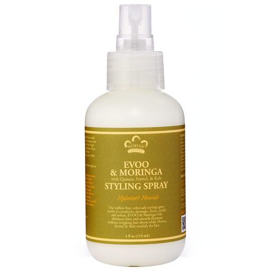 Image of Evoo & Moringa Hair Styling Spray, 4 oz, Nubian Heritage