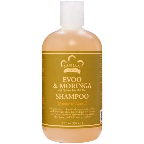 Image of Evoo & Moringa Shampoo, 12 oz, Nubian Heritage
