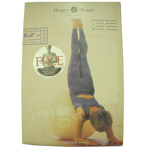 Exercise Ball with Pump; 75 cm Yoga Ball; Hugger Mugger Yoga Products