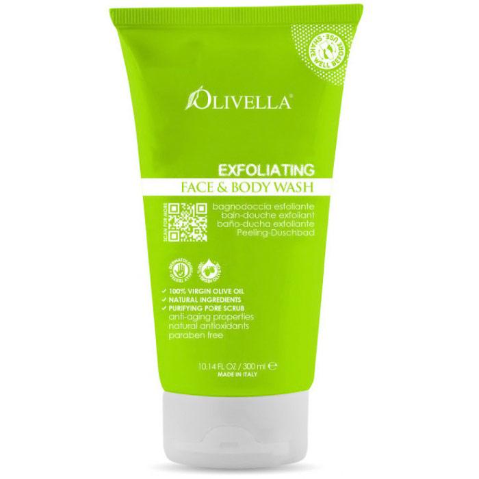 Exfoliating Face & Body Wash, 10.14 oz, Olivella