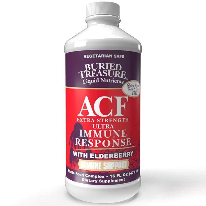 Extra Strength ACF, Liquid Supplement, 16 oz, Buried Treasure Liquid Nutrients