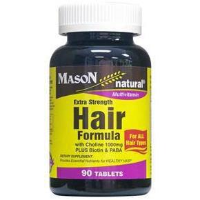 Extra Strength Hair Formula, 90 Tablets, Mason Natural